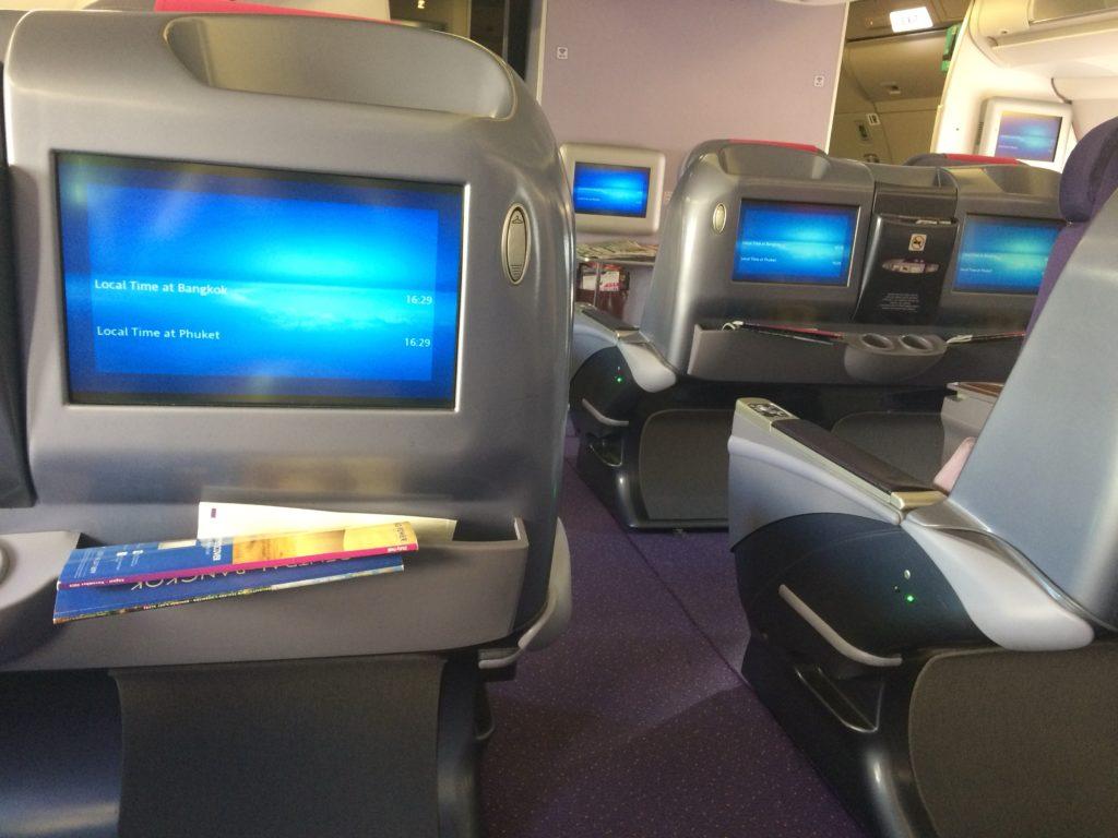 タイ国際航空のビジネスクラスに乗って、プーケットへ